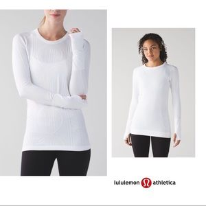 RARE Lululemon Restless Cable Knit Swiftly In Whit